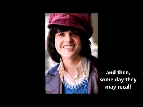 Too Young  DONNY OSMOND (with Lyrics)
