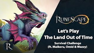 Let's Play the Land Out of Time - Survival Challenge ft Maikeru, Omid & Wazzy