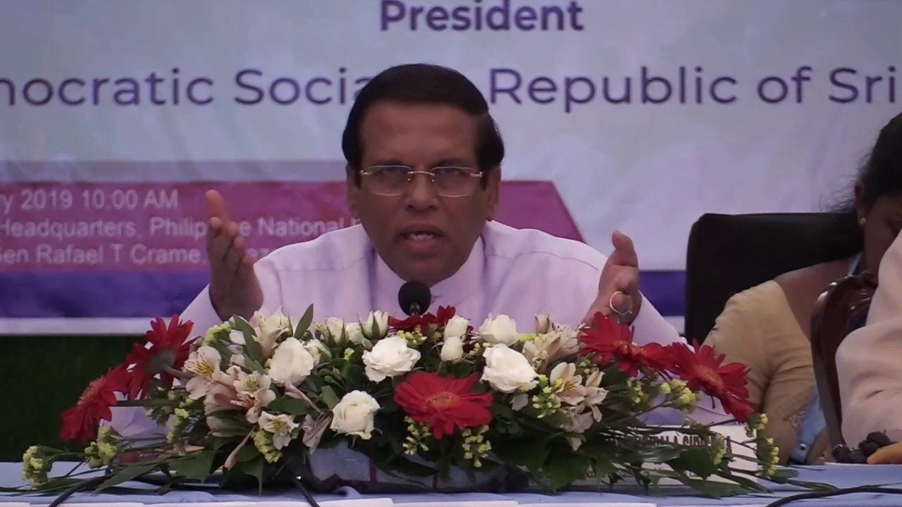 Sirisena acknowledges cops slain in Philippine war on drugs