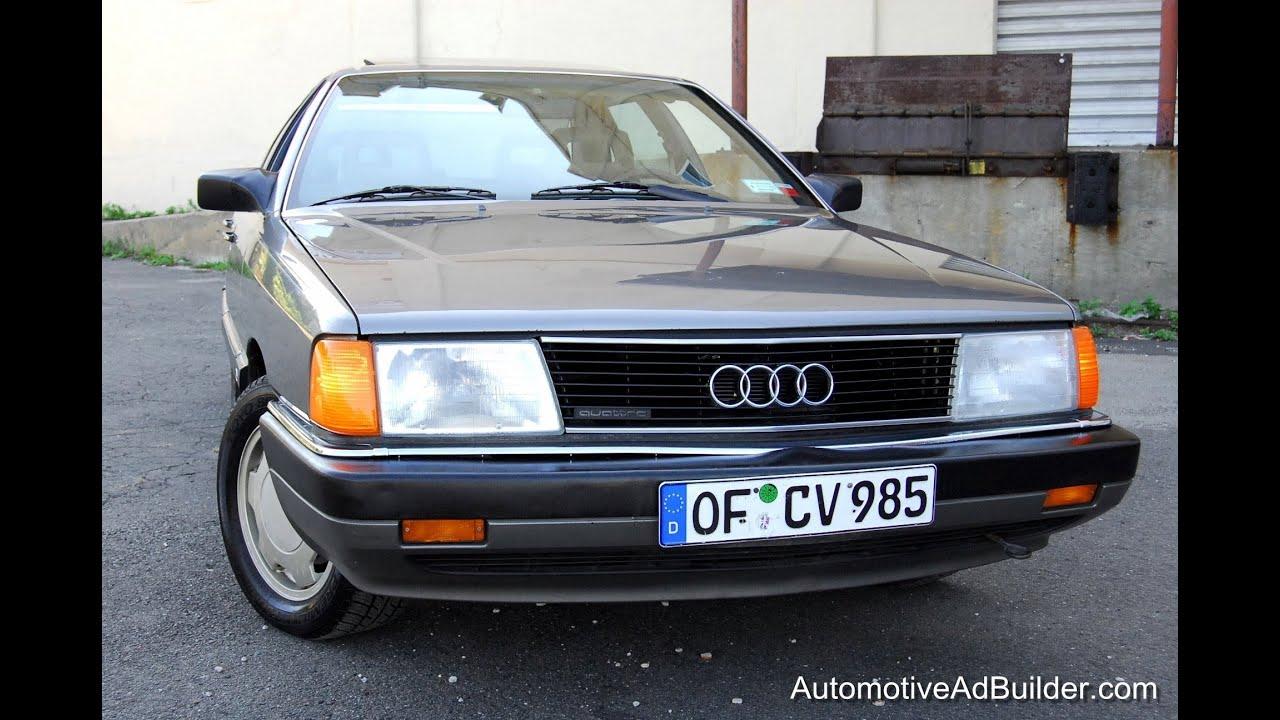 1987 Audi 5000 Quattro 2 3 Typ44 100 Sedan Youtube