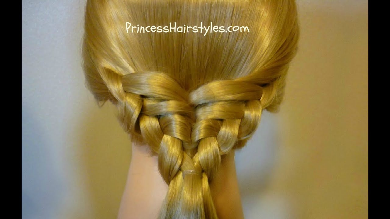 Hair Styles For Braids Pictures: Waffle Cone Ponytail, Easy Hairstyle
