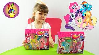 Май Литл Пони игрушки Распаковка My Little Pony Пинки Пай и принцесса Голд Лили.  Victoria Play