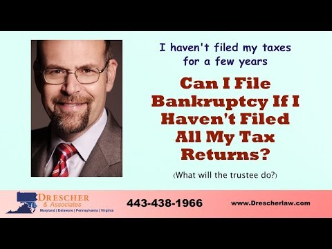 Can I File Bankruptcy If I Haven't Filed My Tax Returns?