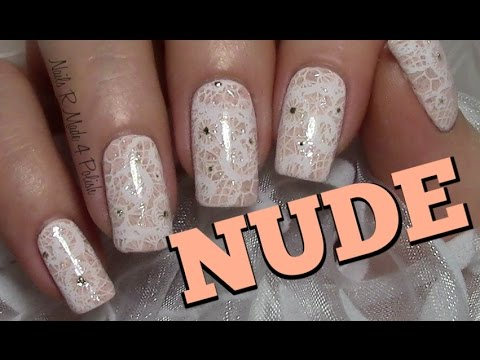 Dezentes Spitzenmuster Stamping Nageldesign Easy Chic Nail Art