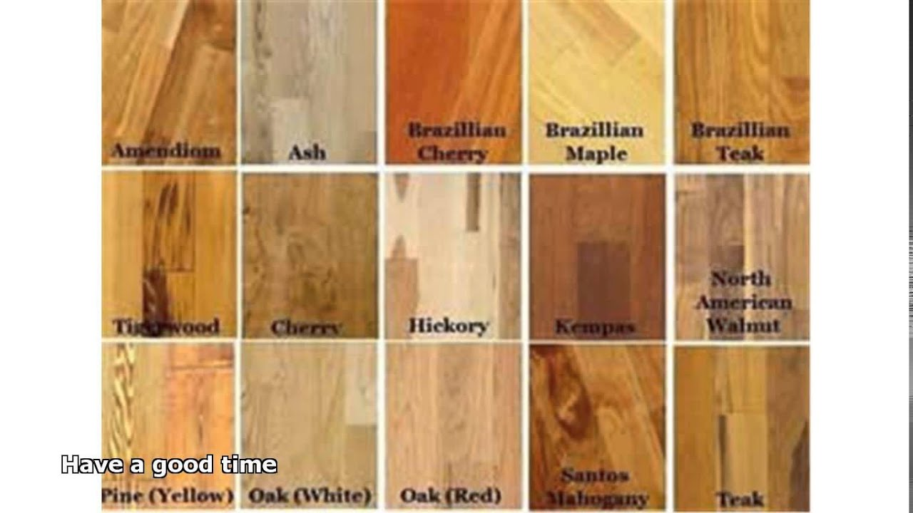 Types of hardwood floors youtube for Different colors of hardwood floors