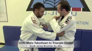 Uchi-Mata Takedown to Triangle Choke – Professor Steve Bongiorno of South Jersey Brazilian Jiu-Jitsu
