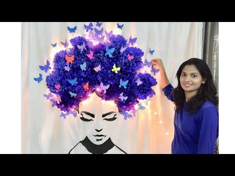 HAPPY WOMEN'S DAY 2019 | Paper Flowers Art | Creative birthday decoration ideas
