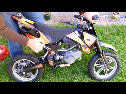 PRIMER ENCENDIDO DE POCKET BIKE MOTOR 2 TIEMPOS