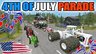 FARMING SIMULATOR 2017 | FIREWORKS | PARADE WITH ANTIQUE TRACTORS + MONSTER TRUCKS & MORE!