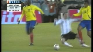 Argentina 1 Ecuador 1 Eliminatorias Sudafrica 2010 (Resumen Completo)