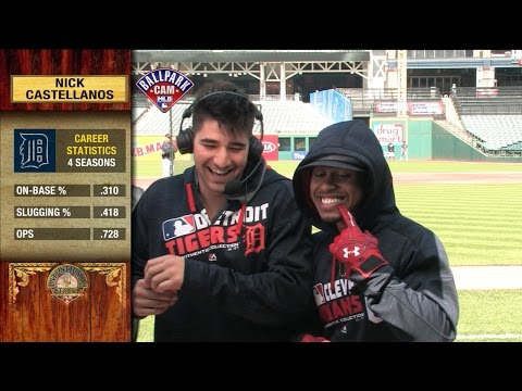 Lindor Shows Off Smile with Castellanos on IT