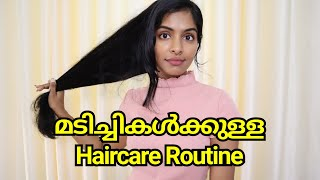 My haircare Routine|Easy, simple haircare routine for hostelers|Haircare Tips & Hacks|Asvi Malayalam