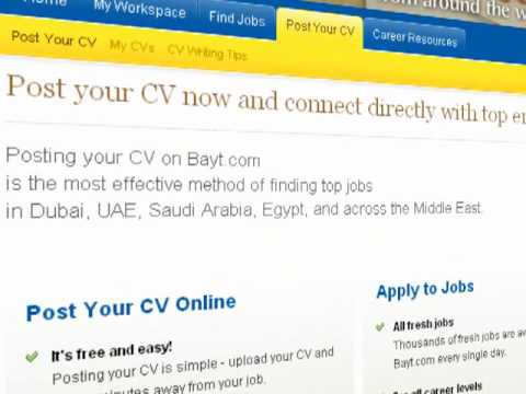 how to build your cv resume on bayt com youtube