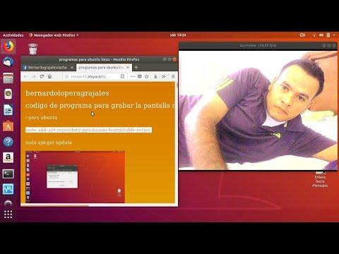 como grabar la pantalla de ubuntu linux