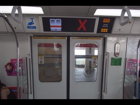 Singapore, MRT ride from Woodlands to Choa Chu Kang