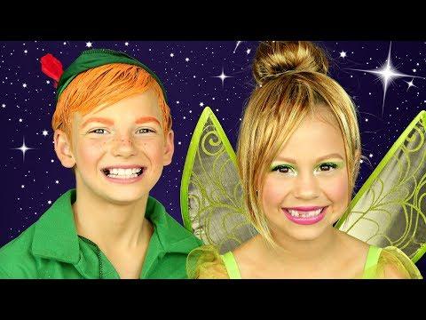 Peter Pan and Tinkerbell Makeup and Costumes
