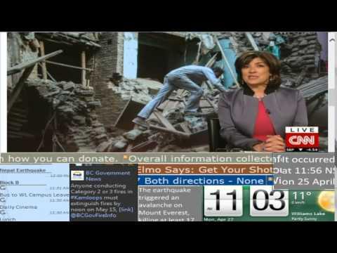 Nepal Earthquake Coverage Third Hour - CNN International - Lake City TV