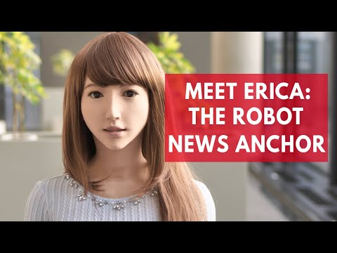 Meet Erica the robot news anchor