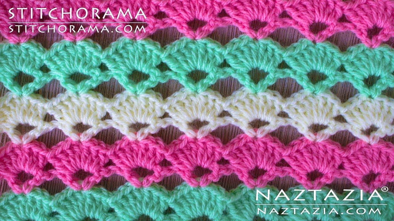 Crochet shell stitch 001 stitchorama by naztazia youtube crochet shell stitch 001 stitchorama by naztazia dt1010fo