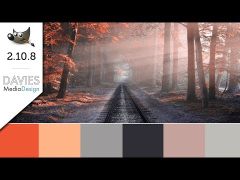 GIMP 2.10.8 Tutorial: Create Custom Color Palettes & Gradients