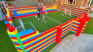 BUILDING A WORLD CUP STADIUM IN OUR GARDEN WITH 3000 BLOCKS....