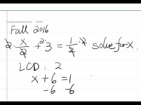 New Problem Example #1.1 (CUNY Elementary Algebra Final