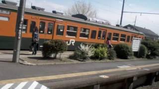 AU携帯「Mobile Hi-Vision CAM Wooo」デ撮影。鉄道公安官時代の車両に...