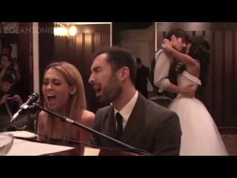 Miley Cyrus sings