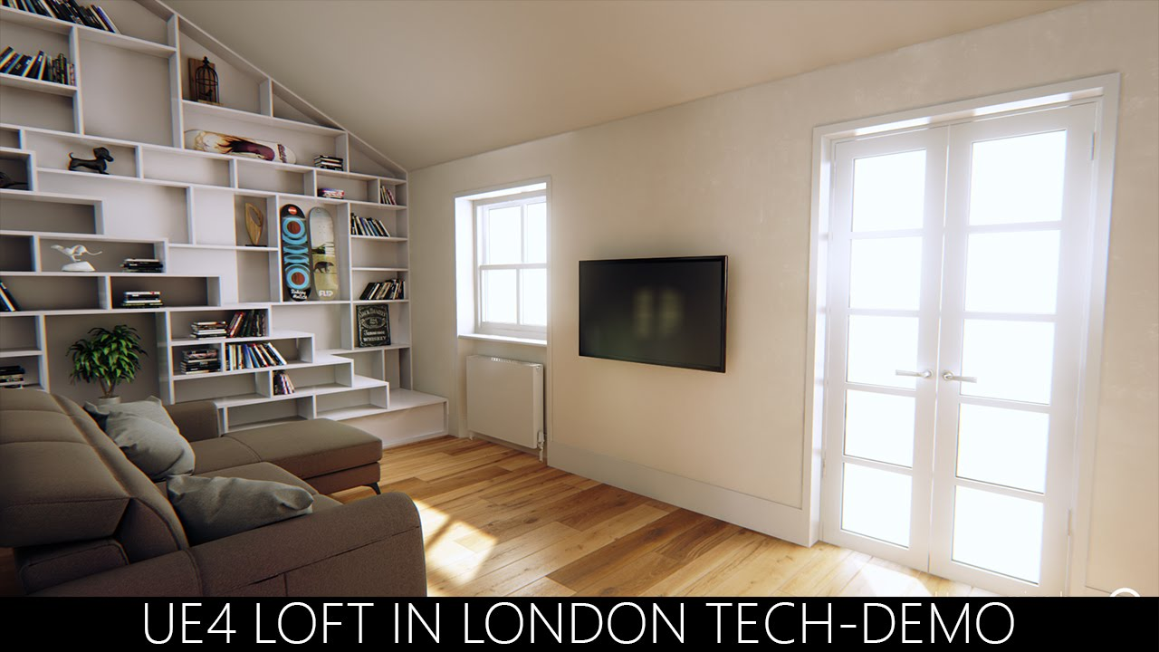 Unreal Engine 4 - Loft in London Tech-Demo 4K by hodilton