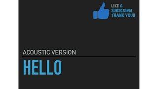 Adele - Hello (Lyrics)-Guitar Karaoke/ Instrumental