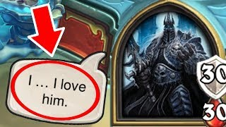 [Hearthstone] 19 SECRET INTERACTIONS in The Lich King Boss Fight | Knights of the Frozen Throne