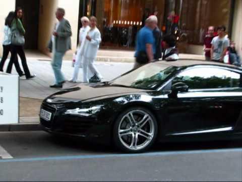 2x Audi R8 4.2 V8 FSI (revs!) @ Königsallee, Düsseldorf [Autogespot - Carspotting]