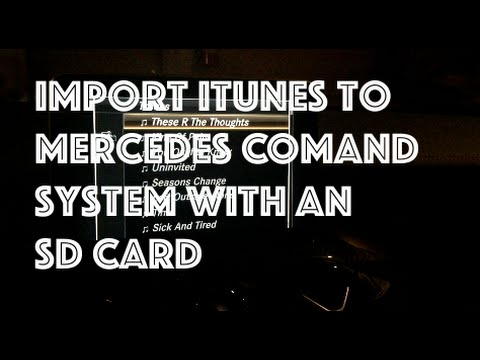 Mercedes COMAND System ★ SD Card Music Import