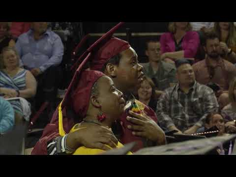 Andi and Kenny  - Mom Skips Her Graduation to See Her Son, They End Up Graduating Together
