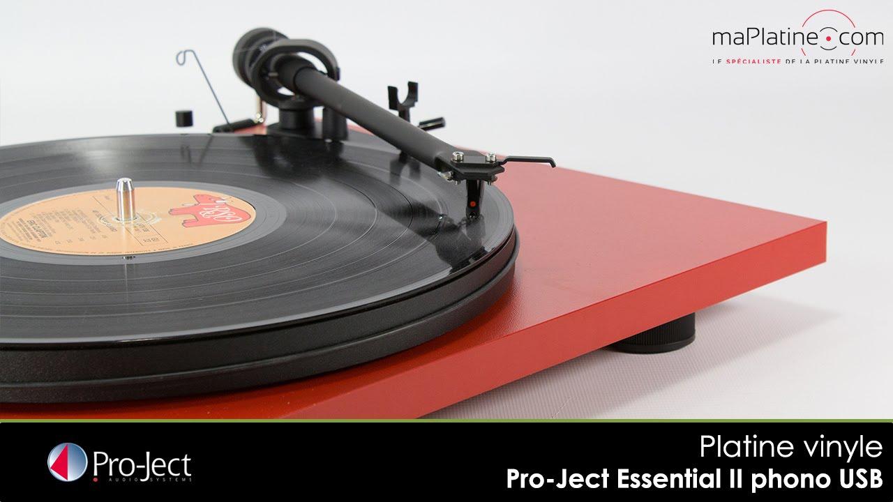 zoom sur la platine vinyle pro ject essential ii phono usb
