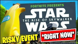FORTNITE: RISKY REELS EVENT x STAR WARS THE RISE OF SKY WALKER *RIGHT NOW*