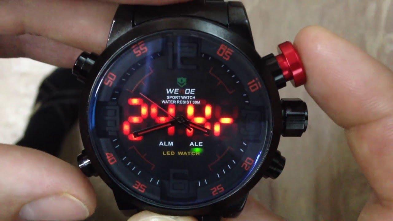 Weide sports watches stopwatch date day military quartz digital watch alarm. Weide sport watch water resistant quartz digital date alarm chronograph.