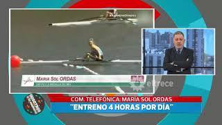 Medalla de oro para Argentina: en exclusiva habló Sol Ordas campeona en remo
