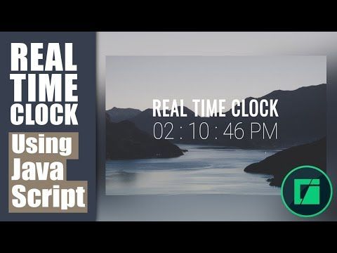 How To Create Realtime Clock Using Html, CSS And Javascript