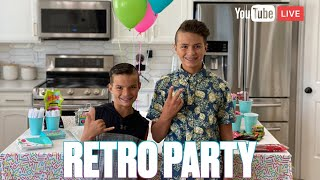 RETRO THEMED BOYS BIRTHDAY PARTY | BROTHERS CELEBRATE FAMILY BIRTHDAY TOGETHER WITH 80'S THEME