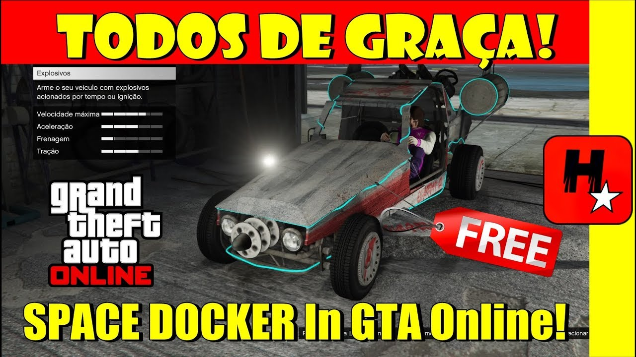 Como obter o SPACE DOCKER de graça no GTA 5 Online! *AP & RP INFINITO*  LEVEL UP (VEÍCULOS GRÁTIS)