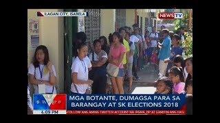 Mga botante, dumagsa para sa barangay at sk elections 2018