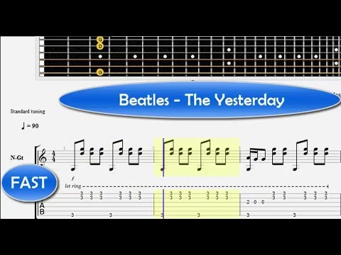 Yesterday Guitar Tutorial Easy Guitar Songs For Beginners How To