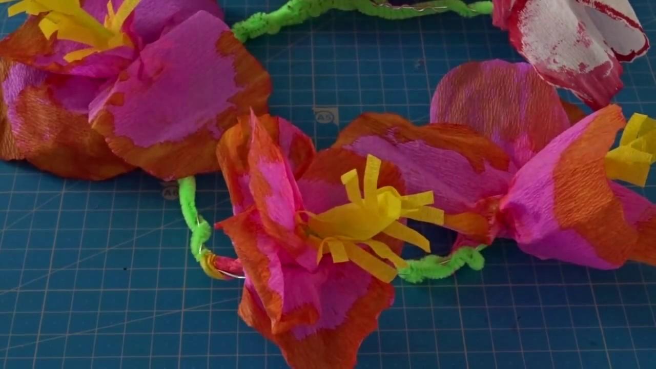 Diy La Couronne De Fleurs De Vaiana La Princesse Tahitienne De