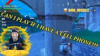 Coached A Cell Phone Fortnite Player To The End
