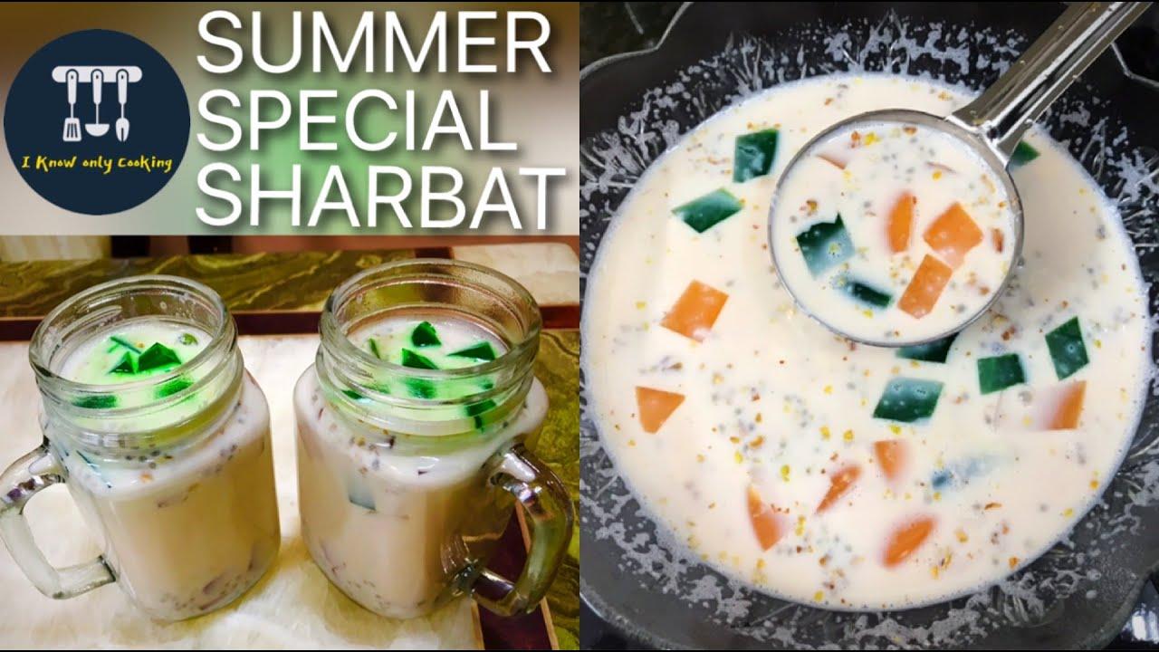 Download China Grass Sharbat | Summer Special Drink | Agar Agar Recipe | Iftar Special Drink | Doodh Sharbat