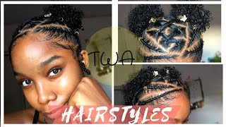 Braided Hairstyles For Short Natural Hair Twa Hairstyles Youtube