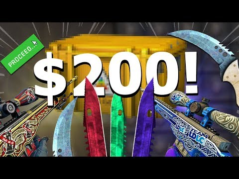 I Opened $200 Csgo Skin Case And I Got This..