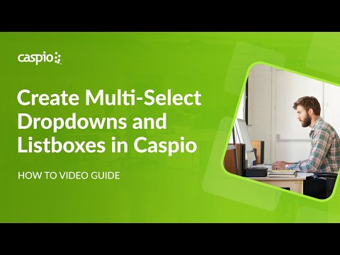 How to Create Multiselect Dropdowns and Listboxes in Caspio