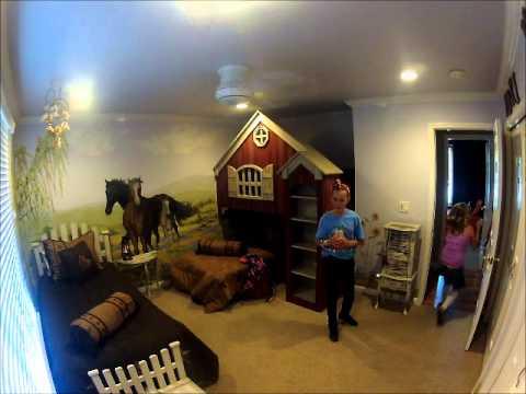 Girls New Horse Themed Room Youtube